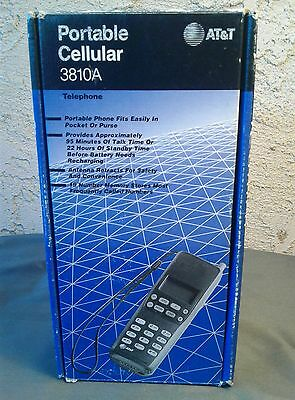 AT&T Cell Phone Vintage Model 3810A Type THA-95A *rare* works