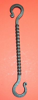 Large Wrought Iron Twisted 9 3/4 in. S-Hook Hanger, by Blacksmiths in USA