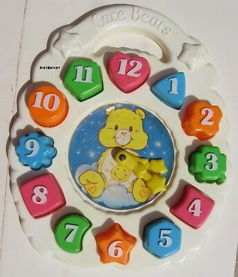 Vintage Care Bear Clock Puzzle Educational Tell Time 1984