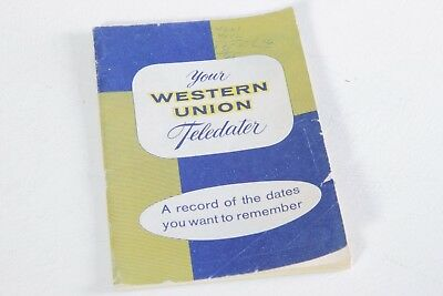 Your Western Union Teledater Date Book Telegraph Ephemera 1960s Color Printing