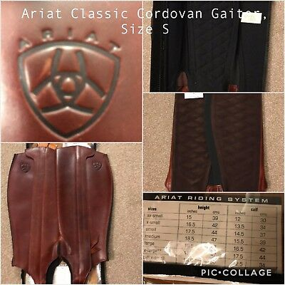 BNWT Ariat Classic Cordovan Chaps/Gaiters - Size Small