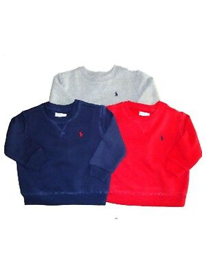 Authentic Ralph Lauren Polo Baby boys cotton fleece sweatshirt top 12,18,24m £45