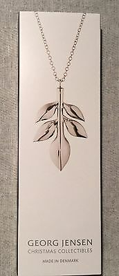 GEORG JENSEN 2016 CHRISTMAS ORNAMENT 2016 MAGNOLIA LEAF SILVER - New Boxed