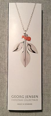 GEORG JENSEN 2016 CHRISTMAS ORNAMENT 2016 MAGNOLIA LEAF SILVER W/ Beads BNIB