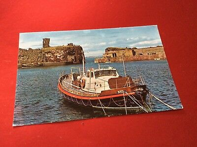 Dunbar Castle And Lifeboat,east Lothian Postcard (Unposted)