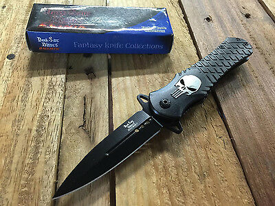 Dark Side Blades Punisher Assisted Opening Folding Knife - Black Blade DS-A014BK