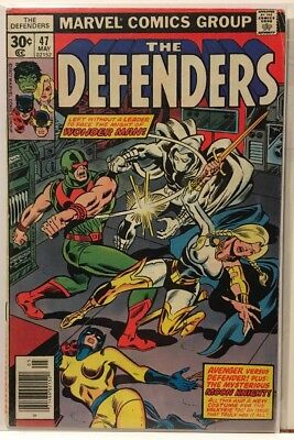 The Defenders #47 & #48 Lot of 2 Bronze Age Marvel Comics Moon Knight Appearance
