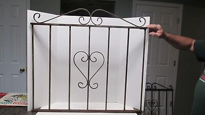 Vintage Antique Wrought Iron Scroll Garden Gate Porch Panel Salvage Scrollwork#2