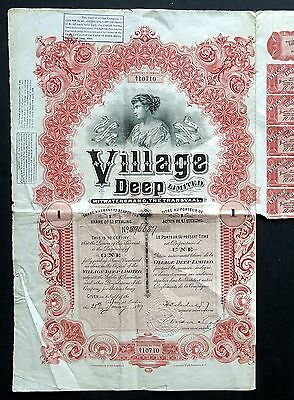 1927 Witwatersrand, The Transvaal: Village Deep Limited (Waterlow & Sons)