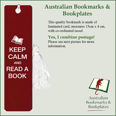 """Keep Calm"" bookmark with tassel (0615)"