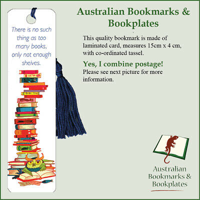 """""""Not Enough Shelves"""" bookmark with tassel (1087)"""