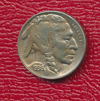 1936-D Buffalo Nickel **choice About Uncirculated** Free Shipping!