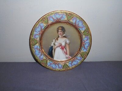 Royal Vienna Style Hand Painted Plate