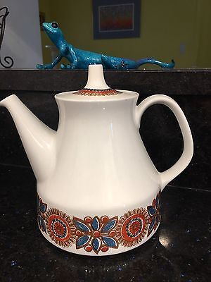 Figgjo Flint Norway FF Scandinavian Art Pottery Astrid Teapot Tea Pot Teal