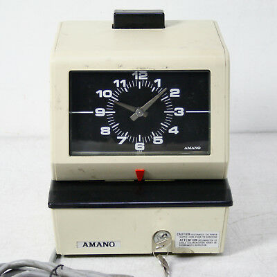 Amano 3636 Electric Time Card Punch Clock Recorder System 3600 Series 120V