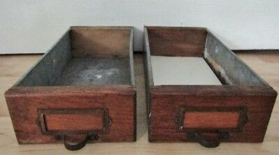 1PAIR of WOOD/GALVANIZED PARTS DRAWERS.INDUSTRIAL SALVAGE HARDWARE STORE CABINET