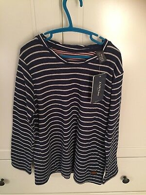 BNWT Zara Breton Navy & White Top 7-8 Years