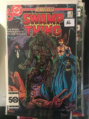 SWAMP THING #46 VF/NM 1st Print ALAN MOORE Batman Justice league