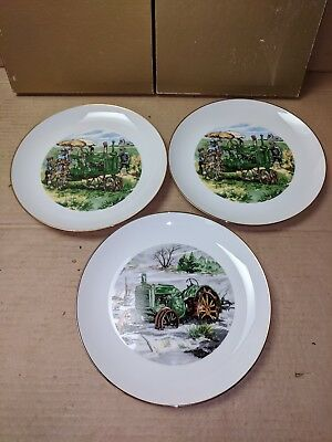 Vintage LOT OF 3 John Deere Collectible PLATES Snowbound 2491 County Fair 0555