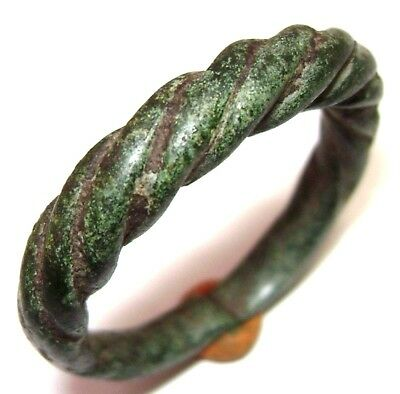 Ancient Massive Pseudo-twisted Viking bronze ring. 6.3gr.