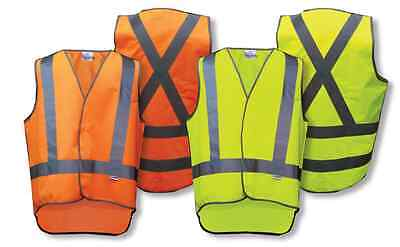 Hi Vis Safety Vest With Reflective tape size M- 3XL With Tail