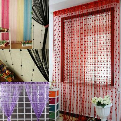 Sweet String Curtain Heart Drape Panel DIY Hangings Divider Wedding Ornament LJ