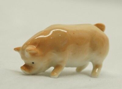 Vintage Porcelain Pig / Hog /  Swine Miniature - Cute Mini Piggy
