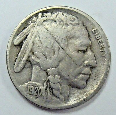 1920 Four Digit Date Buffalo Nickel, Nice Collector Coin, Free Shipping