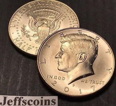 2017 P&D Kennedy Half Dollars Kenedy PD MINT ROLL Clad 50¢ 2 Uncirculated Coins