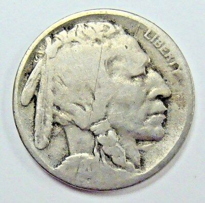 1920 D Weak Date Buffalo Nickel, Nice Collector Coin, Free Shipping