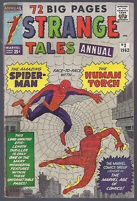 Strange Tales Annual #2   LOOKS HIGH GRADE 1st Spider-Man X-over, 4th app (1963)