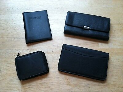 wallet and passport holder lot of 4 new