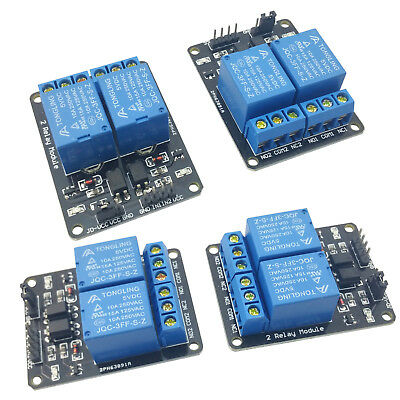 4pcs 5V Dual Channel 2 Relay Module Arduino Relays Switch 110V 115V 120V 220V US