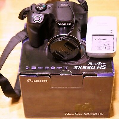 Canon PowerShot SX530 HS 16.0 MP Digital Camera - Black w/32GB SDHC Card