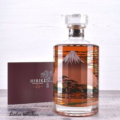 Hibiki 21 YO Mount Fuji Limited Edition Blended Japanese Whisky Rare 2nd Release