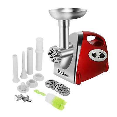 Electric Meat Grinder Kitchen Industrial Sausage Maker Mincer Easy Use Clean Red