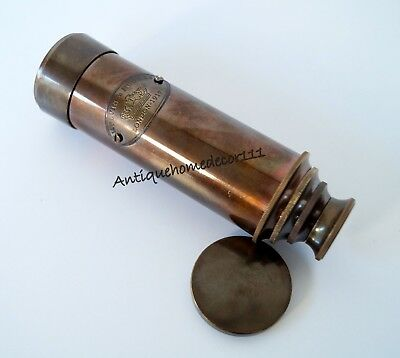 "15"" Marine Nautical Antique Brass Pirate Spyglass Vintage Scope Brass Telescope"
