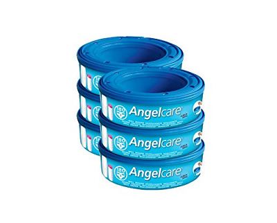 Refill Cassettes Suitable for Angelcare Nappy Disposal System, Pack of 6
