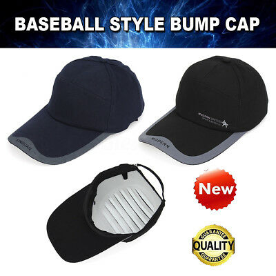 Baseball Style Bump Cap Vented Safety Hard Hat Scalp Head Protection Mechanic