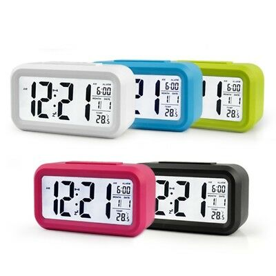 LED Digital Snooze Alarm Clock Backlight Table Clock Time Temperature Calendar