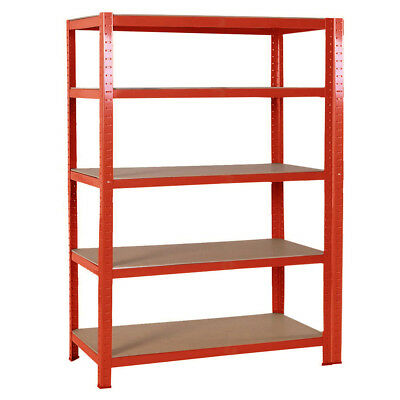 Garage Shelving Workshop Storage Unit Shed Warehouse Racking 5 Tier 1200mm Wide