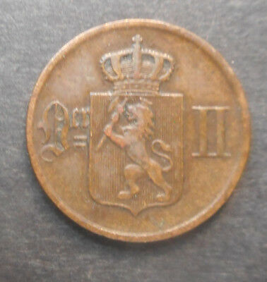 Norway 1877 1 Ore  Coin  Nice