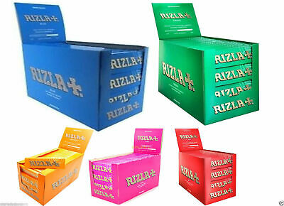 RIZLA BLUE KING SIZE SLIM GENUINE CIGARETTE SMOKING ROLLING PAPERS ORIGINAL rzlP