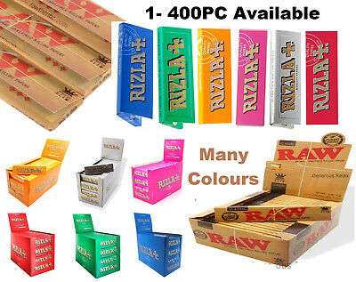 Authentic RAW Classic King Size Natural Rolling Smoking Paper Skins Rizla rzlpr