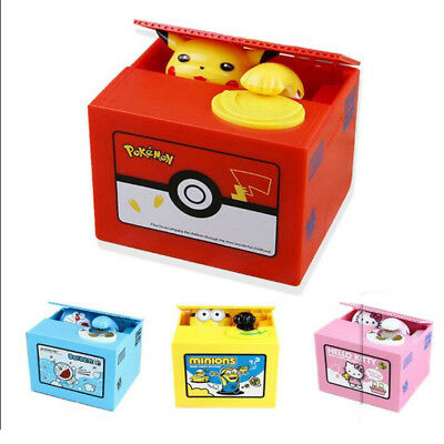 NEW!Pikachu-Go inspired Electronic Coin Money Piggy Bank box Limited Edition