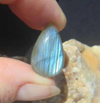 CABOCHON PIERRE NATURELLE INDE A +++ LABRADORITE 20 mm NATURAL STONE INDIA L 48