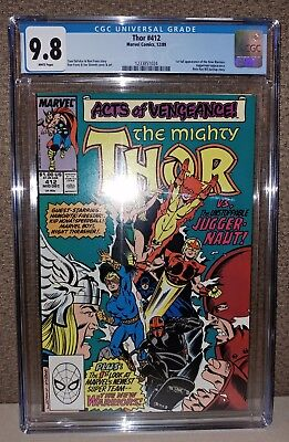 Thor #412 - CGC 9.8 White Pages - 1st New Warriors