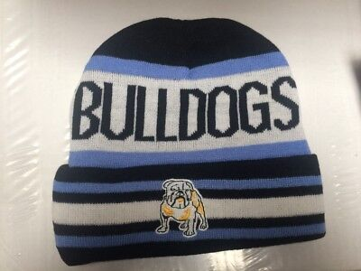 76953bcc05e CANTERBURY BULLDOGS NRL beanie hat rugby league. - £10.00
