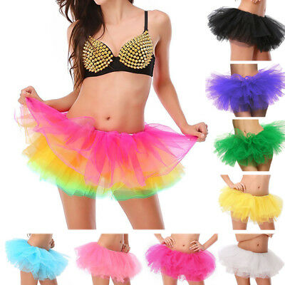 422fd1cfc Rainbow Neon TUTU Layer Short Skirt Rave Dance Ballet Clubwear Costume  Christmas