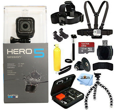 GoPro HERO5 Session With Sandisk 32GB Everything You Need Bundle BRAND NEW